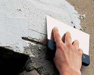 Белая фасадная цементная шпаклевка ШБ-7